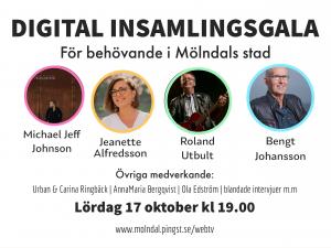 Lördag 17 okt kl 19.00 Digital insamlingsgala för behövande i Mölndals Stad